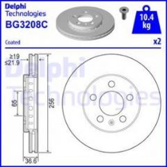 Brake Discs Front 256x22mm (Priced Per Pair)
